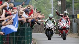 Riders in the Isle of Man TT